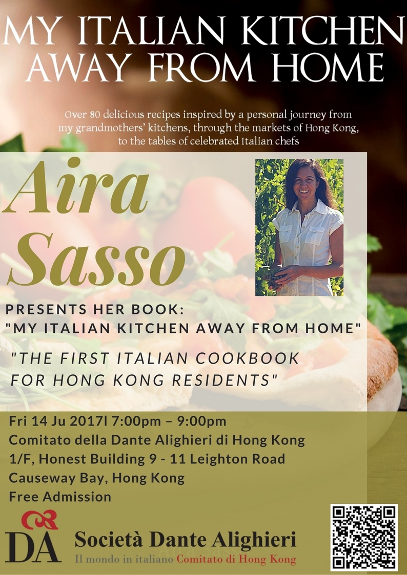 """My Italian Kitchen, away from home"""" – Book Presentation by Aira ..."""