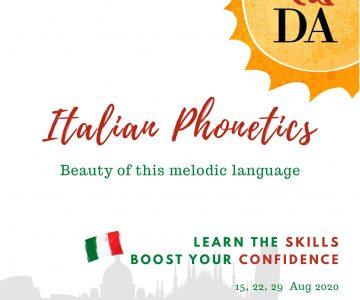 Italian Phonetics 2020